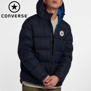 Converse Men's Lightweight Down Puffer Navy Jacket